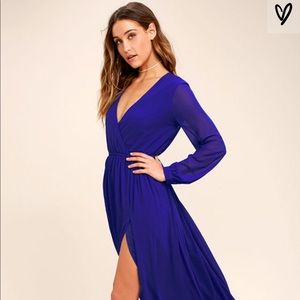 Lulu's Royal Blue Maxi dress